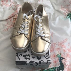 Bamboo Brand Gold Sneakers